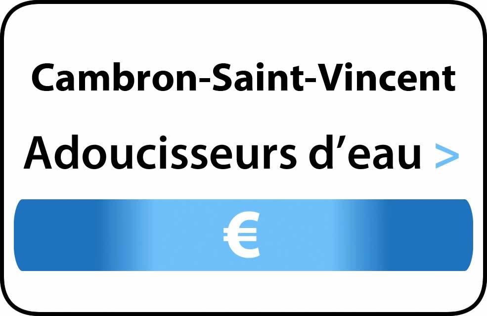 adoucisseur d'eau Cambron-Saint-Vincent