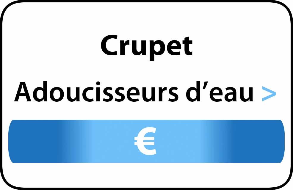 adoucisseur d'eau Crupet