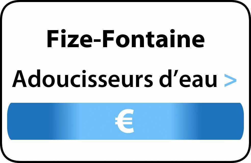 adoucisseur d'eau Fize-Fontaine