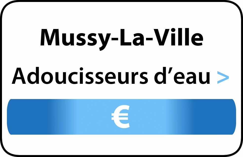 adoucisseur d'eau Mussy-La-Ville